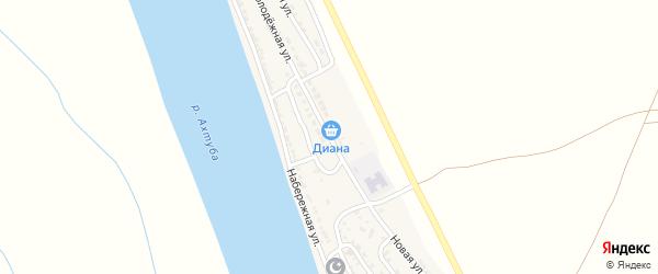 Молодежная улица на карте села Джанай Астраханской области с номерами домов