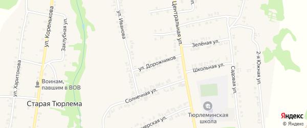 Светлая улица на карте станции Тюрлемы с номерами домов