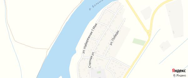 Молодежный переулок на карте села Раздора Астраханской области с номерами домов