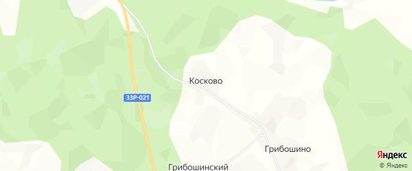 Карта деревни Косково в Кировской области с улицами и номерами домов