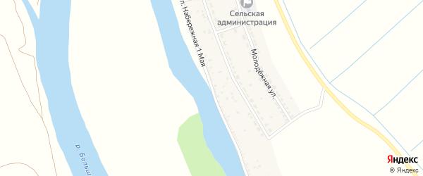 Набережная 1 Мая улица на карте села Раздора Астраханской области с номерами домов