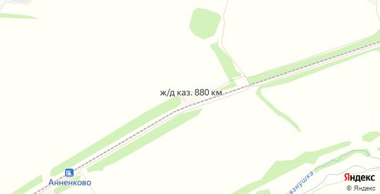 Карта поселка Казарма 880 км в Ульяновске с улицами, домами и почтовыми отделениями со спутника онлайн