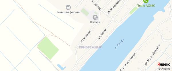 Южная улица на карте поселка Начала Астраханской области с номерами домов