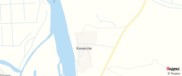 Карта поселка Кинелле в Астраханской области с улицами и номерами домов