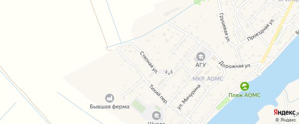 Степная улица на карте поселка Начала Астраханской области с номерами домов