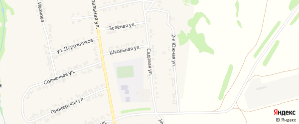 Садовая улица на карте станции Тюрлемы Чувашии с номерами домов