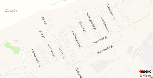 Рябиновая улица в Козловке с номерами домов на карте. Спутник и схема онлайн