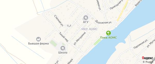 Советская улица на карте поселка Начала Астраханской области с номерами домов