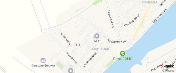 Первомайская улица на карте поселка Начала Астраханской области с номерами домов