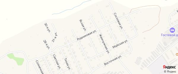 Ясная улица на карте Козловки с номерами домов