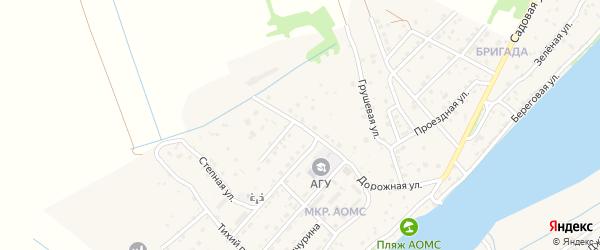 Университетская улица на карте поселка Начала Астраханской области с номерами домов