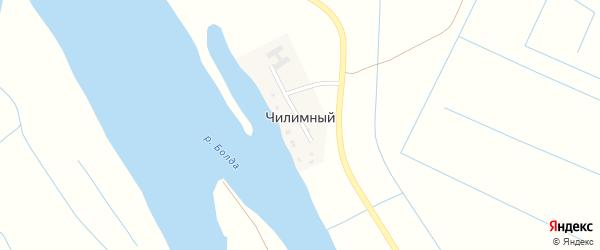 Школьная улица на карте Чилимный поселка Астраханской области с номерами домов