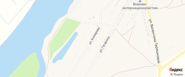 Улица Комарова на карте села Килинчи Астраханской области с номерами домов