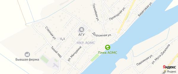 Школьный переулок на карте поселка Начала Астраханской области с номерами домов