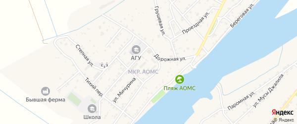 Улица Марины Цветаевой на карте поселка Начала Астраханской области с номерами домов