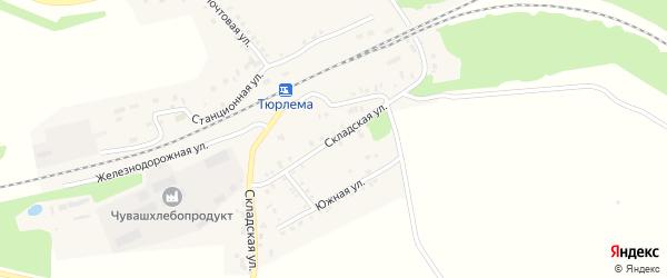 Складская улица на карте станции Тюрлемы с номерами домов