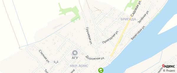 Грушевая улица на карте поселка Начала Астраханской области с номерами домов