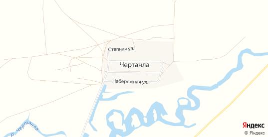 Карта поселка Чертанла в Саратовской области с улицами, домами и почтовыми отделениями со спутника онлайн