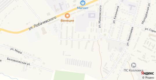Улица Герцена в Козловке с номерами домов на карте. Спутник и схема онлайн