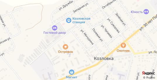 Улица Чернышевского в Козловке с номерами домов на карте. Спутник и схема онлайн