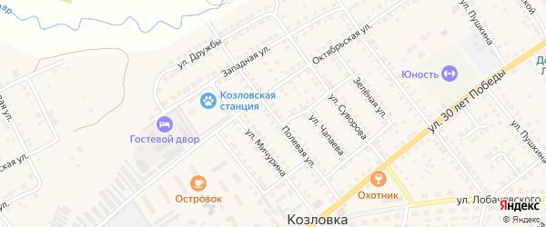 Полевая улица на карте Козловки с номерами домов