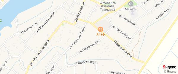 Лесная улица на карте села Килинчи с номерами домов