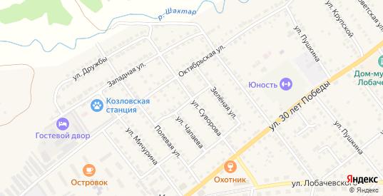 Улица Суворова в Козловке с номерами домов на карте. Спутник и схема онлайн
