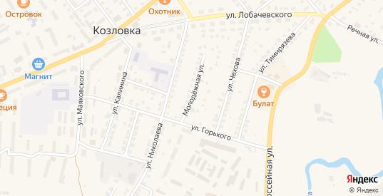 Молодежная улица в Козловке с номерами домов на карте. Спутник и схема онлайн