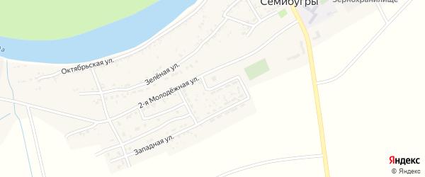 1-я Молодежная улица на карте села Семибугров Астраханской области с номерами домов