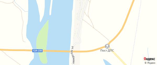 Улица Мусабаева на карте поселка Белого Ильменя Астраханской области с номерами домов