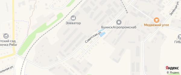 Советская улица на карте Буинска с номерами домов