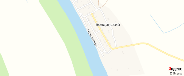 Береговая улица на карте Болдинского поселка Астраханской области с номерами домов