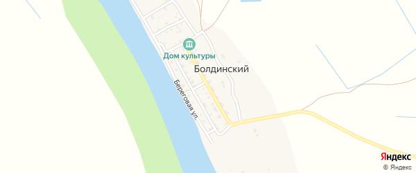 Школьная улица на карте Болдинского поселка Астраханской области с номерами домов