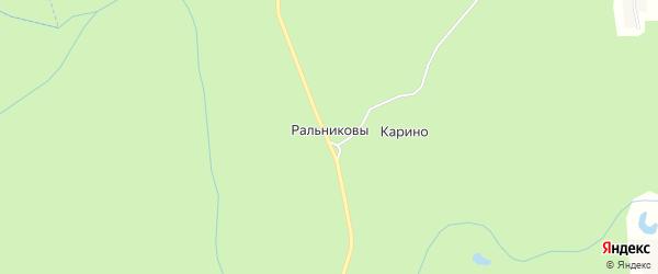 Карта деревни Ральниковы в Кировской области с улицами и номерами домов