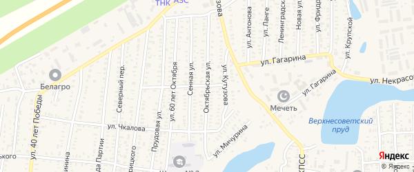 Октябрьская улица на карте Ершова с номерами домов