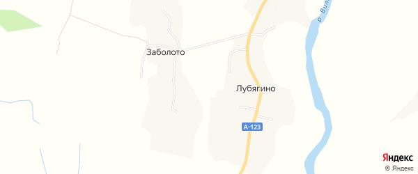 Карта деревни Лубягино в Архангельской области с улицами и номерами домов