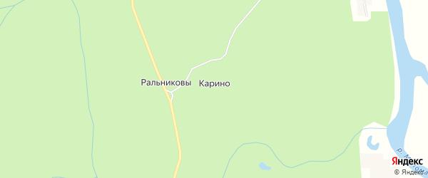 Карта деревни Карино в Кировской области с улицами и номерами домов