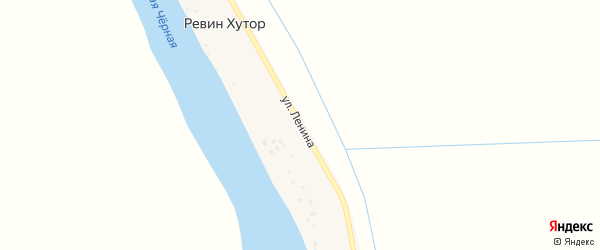 Улица Ленина на карте поселка Ревина Хутора Астраханской области с номерами домов