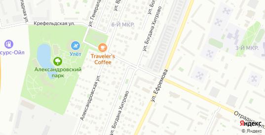 Улица Богдана Хитрово в Ульяновске с номерами домов на карте. Спутник и схема онлайн