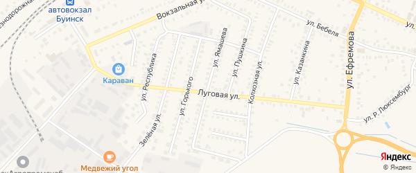 Улица Ямашева на карте Буинска с номерами домов