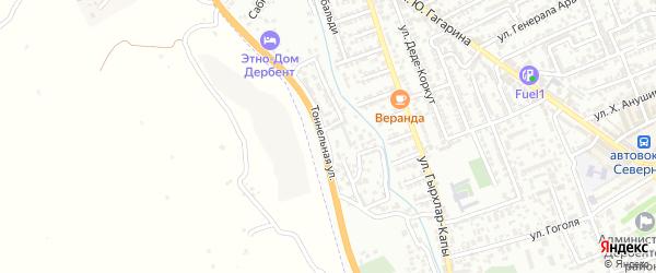 Тоннельная улица на карте Дербента с номерами домов