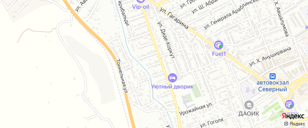 Улица Аскерова на карте Дербента с номерами домов