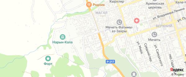 Улица Караева на карте Дербента с номерами домов