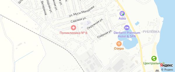 Линейная 6-я улица на карте Дербента с номерами домов