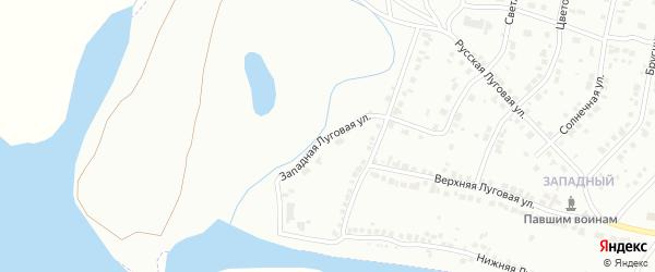 Западная Луговая улица на карте Волжска с номерами домов