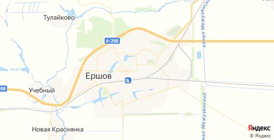 Карта Ершова с улицами и домами подробная. Показать со спутника номера домов онлайн
