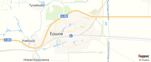 Карта Ершова с районами, улицами и номерами домов
