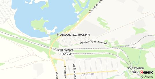 Карта поселка Новосельдинский в Ульяновске с улицами, домами и почтовыми отделениями со спутника онлайн