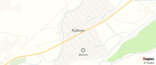 Карта села Куйсуна в Дагестане с улицами и номерами домов