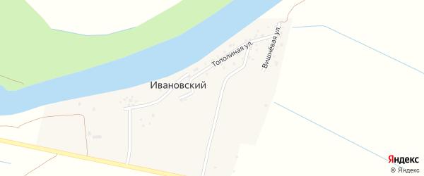 Вишневая улица на карте Ивановского поселка Астраханской области с номерами домов